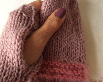 Knitted fingerless gloves, Pink fingerless gloves,Handknit gloves,Winter woollies fingerless gloves