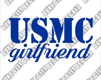 USMC Girlfriend - Marine Corp - Vinyl Sticker Decal