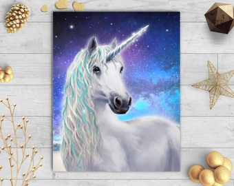Unicorn Painting,Unicorn Gift, Unicorn Art, Unicorns, Unicorn Print, Unicorn Canvas, Unicorn Picture, Unicorn Decor-Sells UK/USA & Australia