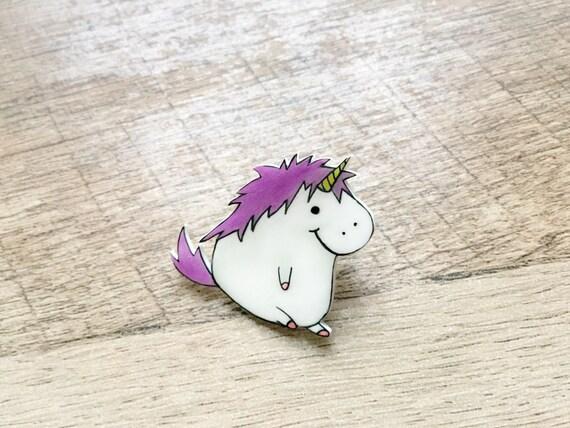 Unicorn Pin cute fat unicorn Unicorn Brooch Unicorn Gift