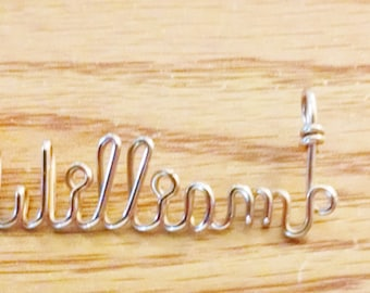 Gold filled or sterling silver Wire Name Necklace personalized