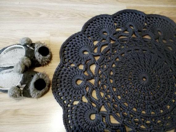Gehäkelter Teppich häkeln Teppich Muster Deckchen Teppich