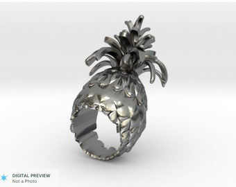 Pineapple Stan silver ring