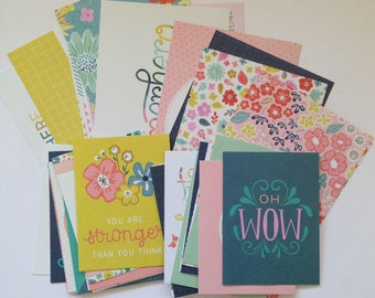 Turn the Page - Project Life Kit, PL, Paige Evans, Planner Kit, Snail Mail Kit, Card Making Kit, Journaling Cards