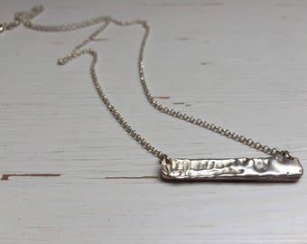 Molten 925 Silver pendant