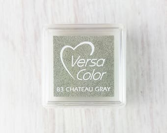 VersaColor Pigment Ink Pad Small in Chateau Grey Ink for stamp - Gray Ink Pad - Versa Color - Colour Ink Pad - Neutral Colour Inkpad