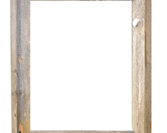 "16x20 –2"" wide Barnwood Reclaimed Wood Open Frame (No Glass or Back)"