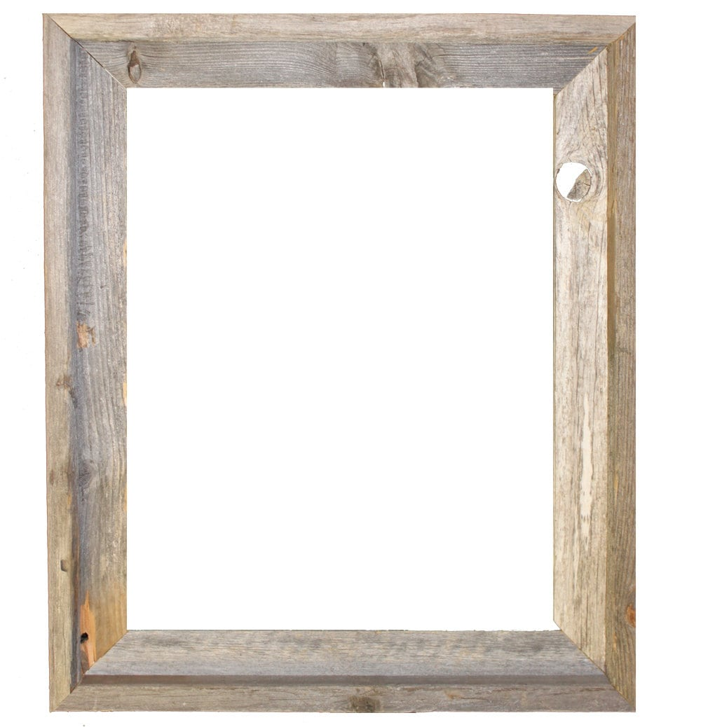 16x20 2 wide barnwood reclaimed wood open frame no zoom jeuxipadfo choice image - Wood Poster Frames