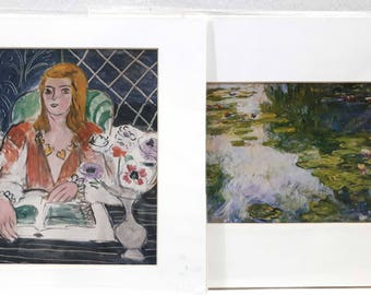 Matisse and Monet Matted Prints for framing