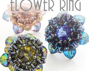 FLOWER RING TUTORIAL / pdf instant tutorial