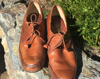 Barker Brown Leather Oxford Shoes