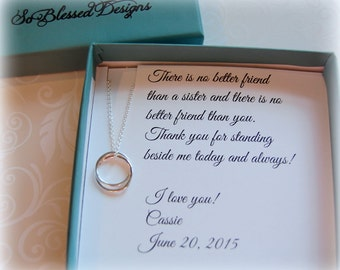 Maid of Honor gift for SISTER, Sister Maid of Honor gift, Matron of Honor, Personalized Sister POEM, Sister as your maid of honor