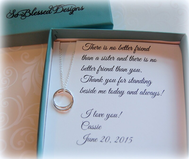Maid Of Honor Gift For SISTER Sister Maid Of Honor Gift