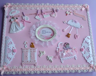 """baby girl table """"Large Format"""": 40CMX30CM."""