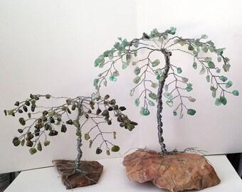 Palm Gem Trees, Custom Order, Beach Decor, Gemstone Trees, Wire Tree Sculpture