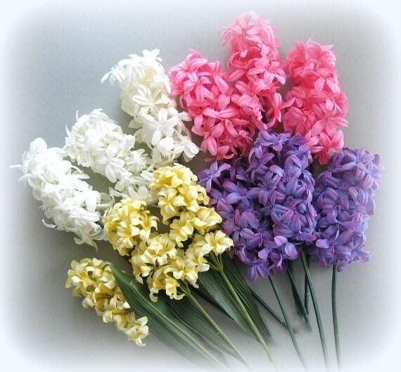 Silk flower stems pink yellow purple lavender 2 artificial mightylinksfo