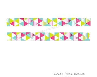 Crafts Mint Green Lines Washi Tape 15mm X 10m