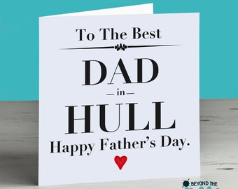 Personalised Father's Day Card - Card For Dad - The Best Dad