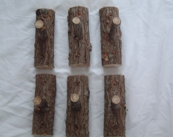 Rustic Log Coat Hooks Handcrafted Maine Made Cedar Home Decor