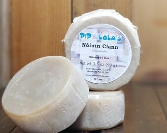 Noinin Clann - Chamomile Shampoo Bar - Vegan Shampoo Bar - Unscented, Free Shipping