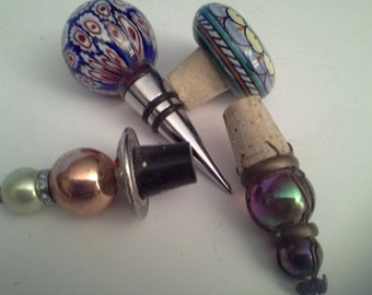 4 glass bottle stoppers