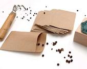 10 Seed Packets Envelopes Kraft Wedding Favor Envelopes Small Mini Kraft Seed Envelopes Kraftpapier Brown Gardening Craft Gardening Seeds