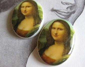 2 PC Mona Lisa Cameo / 18 x 13 mm - QQ05
