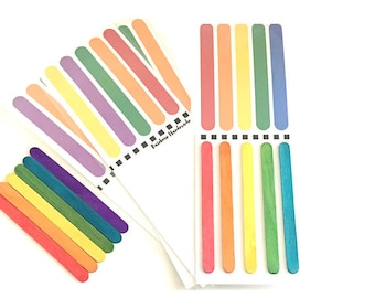 Popsicle Stick Patterns Busy Bag, Montessori Toddler Toys, Toddler Activities, Travel Preschool Games, Toddler Gift, Activities for Toddlers