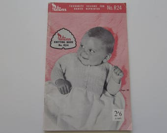 Vintage (1950s) knitting book, 'Favourite Designs For Babies reprinted' Patons No. R24