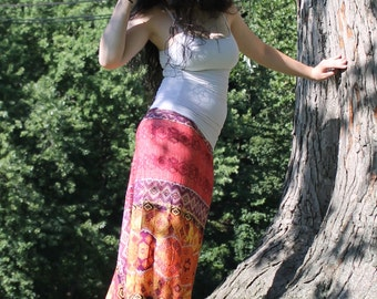 Coral Sweeping Long Skirt