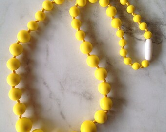 SALE! Silicone Teething Necklace - Yellow