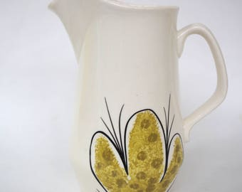 Vintage Vera Neumann Calypso Pattern Small Hand Painted Pitcher Made in Jamaica by Island Worcester