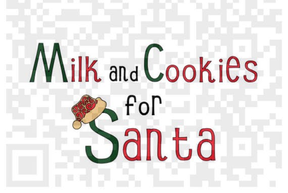 Milk and Cookies for Santa PNG, Milk for Santa, Christmas Png, Digital print and cut file, Santa png, Elf png, santa claus png, cookies png