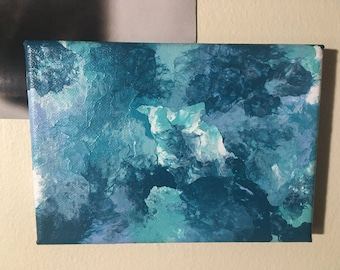 Blue: Original abstract painting