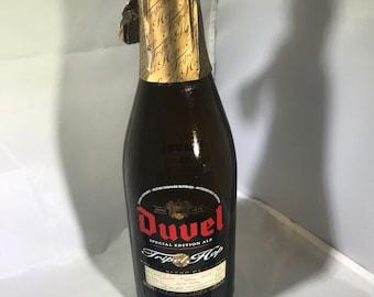 Duvel Tripel Hop édition spéciale Ale bouteille vide pour l'artisanat 750ml sérigraphié et étiquette en papier