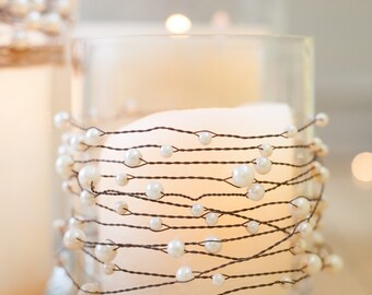 Pearl & Wire Garland | Beach Wedding | Rustic Wedding Decor