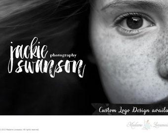 Custom Logo Design watercolor logo brush logo photography logo website logo blog logo business logo typographic logo boutique branding logo