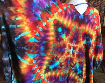Tie Dye Kimono • Festival Wear • Light Jacket • Ice Dye • Rave Wear • Shawl • PREORDER ONLY