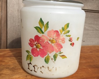 Frosted Glass Cookie Jar