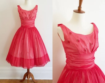 1950s Teri Junior Fit and Flare Dress