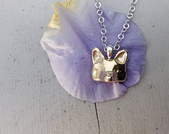 Fox Necklace, Bronze Fox, Fox Jewelry, Animal Necklace, Handmade