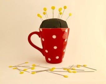 Coffee Cup Pin Cushion - Minnie Edition