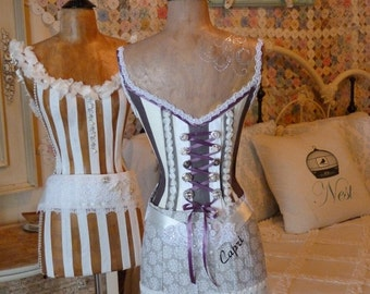 Vintage Inspired Dress Form Mannequin Shades Of Gray Corset Custom Layaway Available Free Shipping