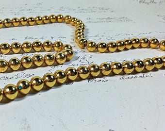 "Vintage Napier Gold toned beaded necklace 24"" length  FREE shipping"