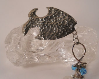 Fish Brooch Vintage seaglass
