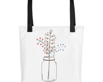 Tote bag Flower in Vase
