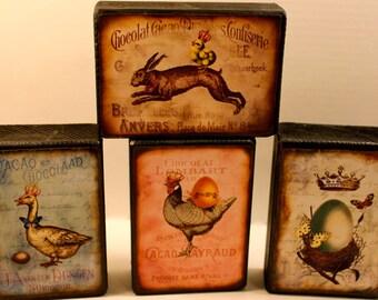 Vintage Label Blocks