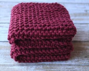 Knit Dishcloth, Eco Friendly, Cotton Scrubbie, Cotton Cloth, Washcloth, Knit Dishcloth #1003