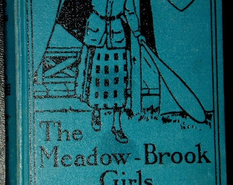 Vintage childrens Book ... The MEADOW BROOK GIRLS In The Hills by Janet Aldridge ...