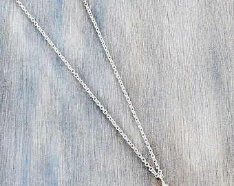 Silvertone Triangle Necklace Silver